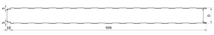 Геометрия сэндвич-панелей TFACE T